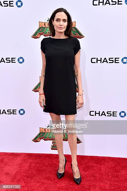 Actress Angelina Jolie attends the premiere of DreamWorks Animation and Twentieth Century Fox's 'Kung Fu Panda 3' at the TCL Chinese Theatre on...