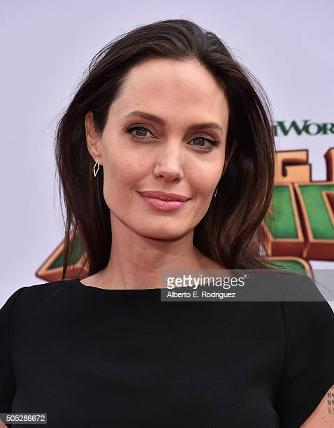 Actress Angelina Jolie attends the premiere of DreamWorks Animation and Twentieth Century Fox's 'Kung Fu Panda 3' at TCL Chinese Theatre on January...