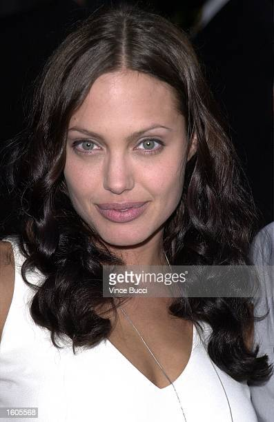 Actress Angelina Jolie attends the premiere of the MGM Pictures'' film 'Original Sin' July 31 2001 in Hollywood CA