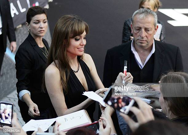 Actress Angelina Jolie attends the 'Salt' Germany premiere at CineStar on August 18 2010 in Berlin Germany