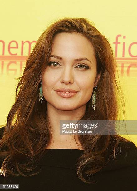 Actress Angelina Jolie attends the 'Shark Tale' Photocall ahead of this evening's World premiere at the 61st Venice Film Festival on September 10...