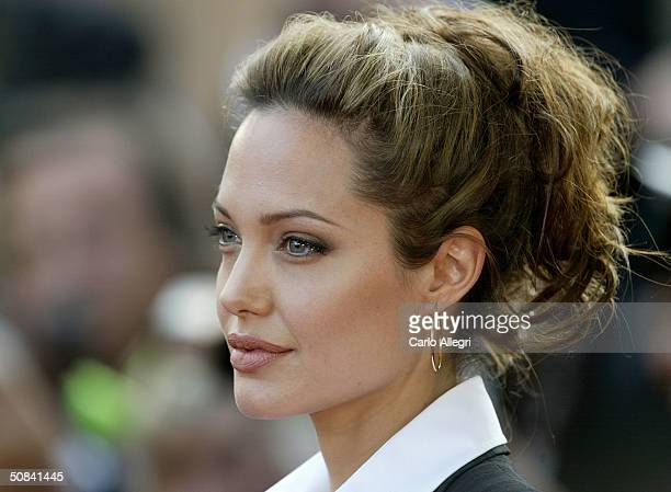 Actress Angelina Jolie attends the 'Shrek 2' premiere at the Le Palais de Festival during the 57th Cannes International Film Festival May 15 2004 in...
