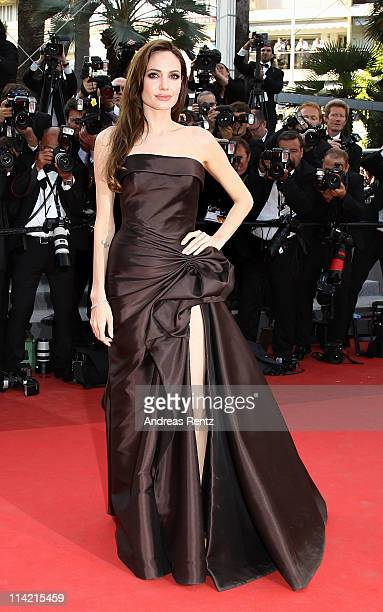 """Actress Angelina Jolie attends """"The Tree Of Life"""" premiere during the 64th Annual Cannes Film Festival at Palais des Festivals on May 16, 2011 in..."""