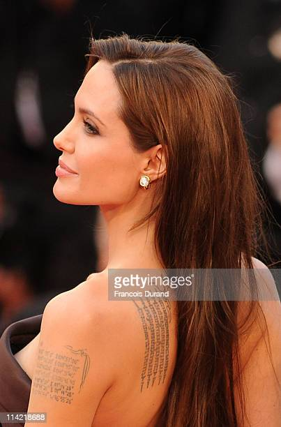 Actress Angelina Jolie attends 'The Tree Of Life' premiere during the 64th Annual Cannes Film Festival at Palais des Festivals on May 16 2011 in...