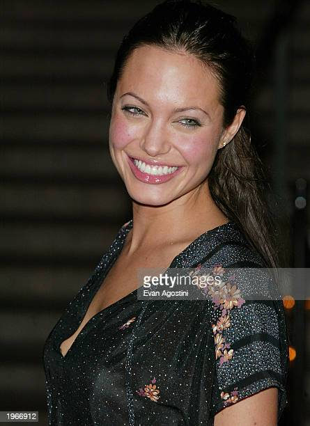 Actress Angelina Jolie attends the Vanity Fair 2003 Tribeca Film Festival launch party at The State Supreme Courthouse May 1 2003 in New York City