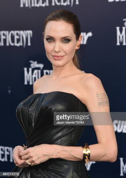 "Actress Angelina Jolie attends the World Premiere of Disney's ""Maleficent"" at the El Capitan Theatre on May 28, 2014 in Hollywood, California."