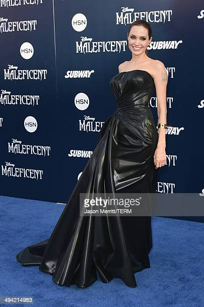 Actress Angelina Jolie attends the World Premiere of Disney's Maleficent at the El Capitan Theatre on May 28 2014 in Hollywood California
