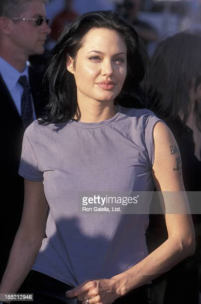Actress Angelina Jolie attends the world premiere of 'Gone In 60 Seconds' on June 5 2000 at Mann Theater in Westwood California