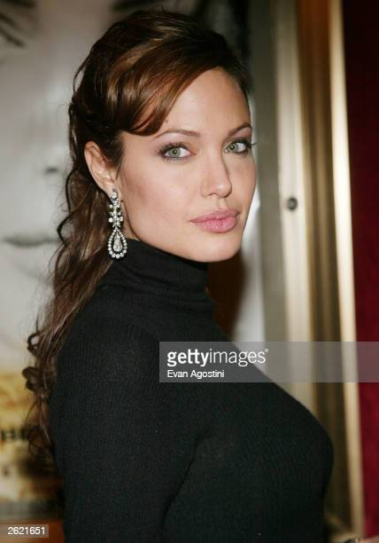 "Actress Angelina Jolie attends the world premiere of Paramount Pictures' ""Beyond Borders"" to benefit the Office of the United Nations High..."