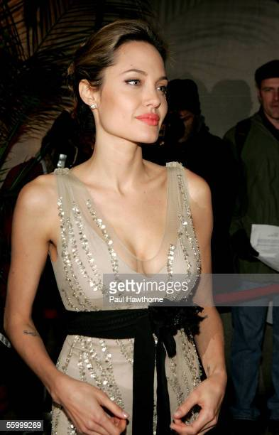 Actress Angelina Jolie attends the Worldwide Orphans Foundation Gala to Honor Christine Ebersole at Capitale October 24 2005 in New York City