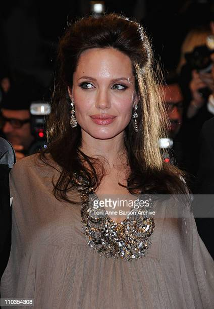 Actress Angelina Jolie departs the 'Changeling' Premiere at the Palais des Festivals during the 61st Cannes International Film Festival on May 20...