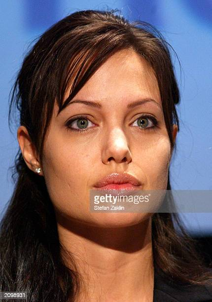 Actress Angelina Jolie Goodwill Ambassador for the United Nations High Commission for Refugees participates in a World Refugee Day ceremony June 20...