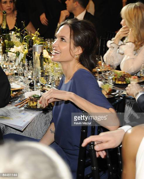 Actress Angelina Jolie in the audience at the TNT/TBS broadcast of the 15th Annual Screen Actors Guild Awards at the Shrine Auditorium on January 25...