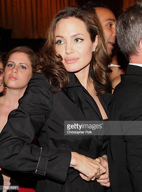 Actress Angelina Jolie inside at the 13th ANNUAL CRITICS' CHOICE AWARDS at the Santa Monica Civic Auditorium on January 7, 2008 in Santa Monica,...
