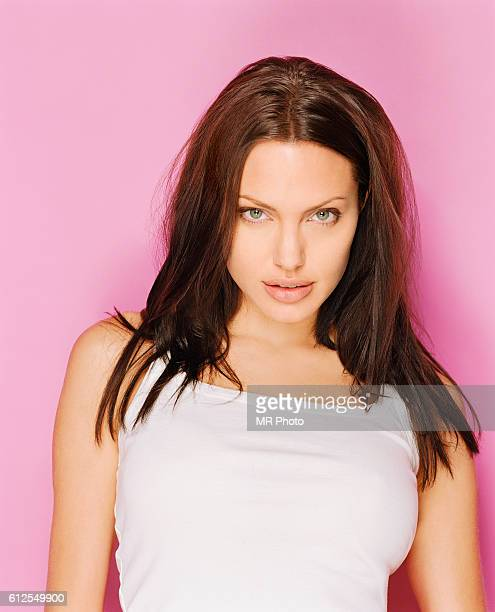Actress Angelina Jolie is photographed for Marie Claire Magazine in 2001