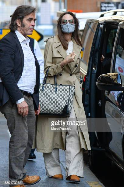 Actress Angelina Jolie is seen on July 23, 2021 in Paris, France.