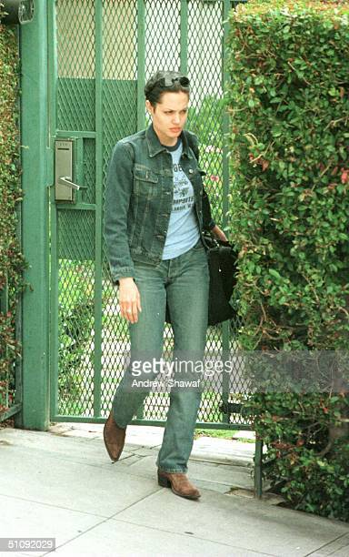 Actress Angelina Jolie Leaves The Villa That She Shares With Actor Billy Bob Thornton May 8 2000 In Los Angeles Ca These Are The First Photos Of...