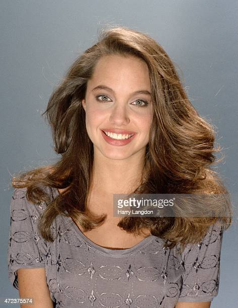 Actress Angelina Jolie poses for a portrait in 1991 in Los Angeles California