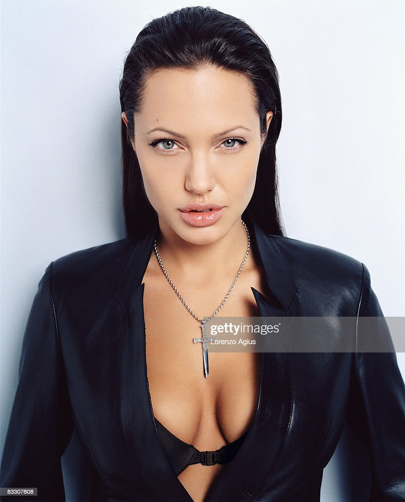 Actress Angelina Jolie poses for a portrait shoot on June 29, 2005 in Los Angeles.