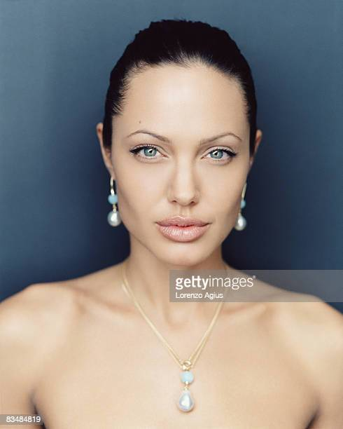 Actress Angelina Jolie poses for a portrait shoot on June 29 2005 in Los Angeles