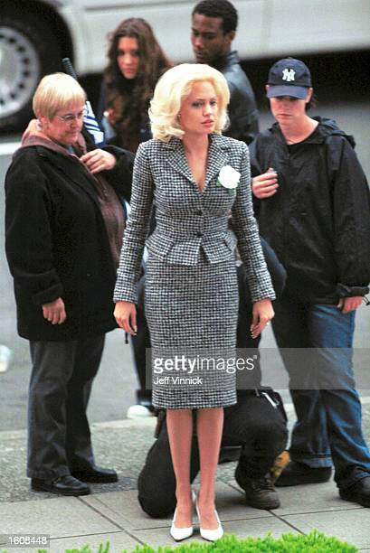 Actress Angelina Jolie prepares for a scene on the set of 'Life or Something Like It' June 4 2001 in Vancouver BC
