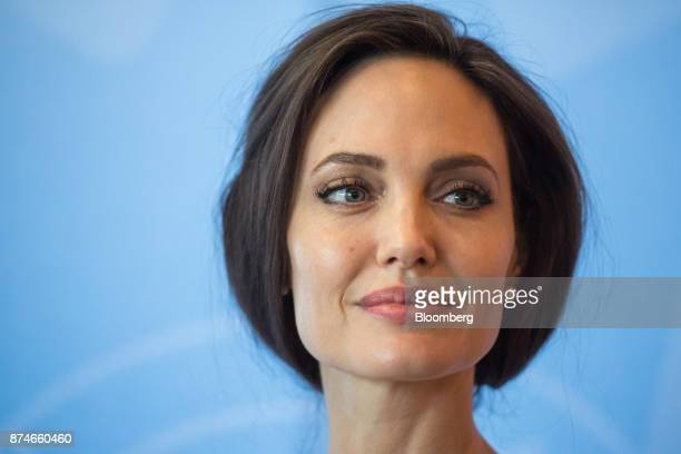 Actress Angelina Jolie special envoy to the United Nations High Commissioner for Refugees attends the 2017 UN Peacekeeping Defence Ministerial...