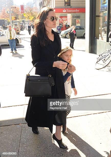 Actress Angelina Jolie Vivienne JoliePitt is seen arriving at Barnes Noble in Midtown on November 3 2015 in New York City