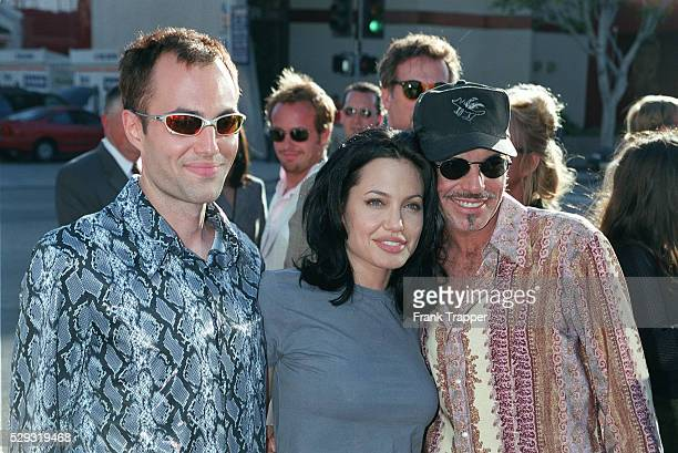 Actress Angelina Jolie with her brother Jamae Haven and her husband Billy Bob Thornton