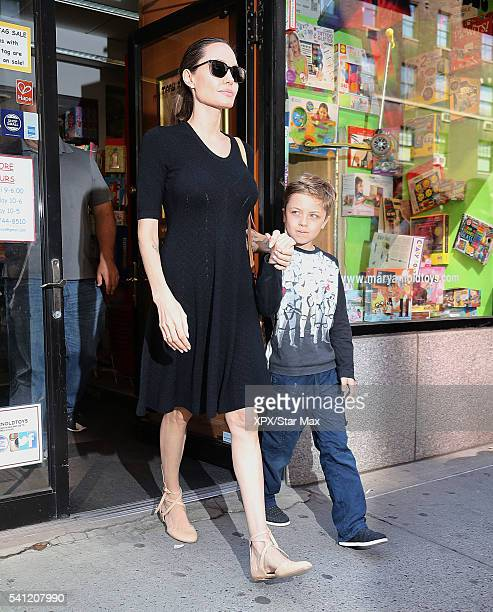 Actress Angelina Jolie with her son Knox JoliePitt are seen on June 18 2016 in New York City