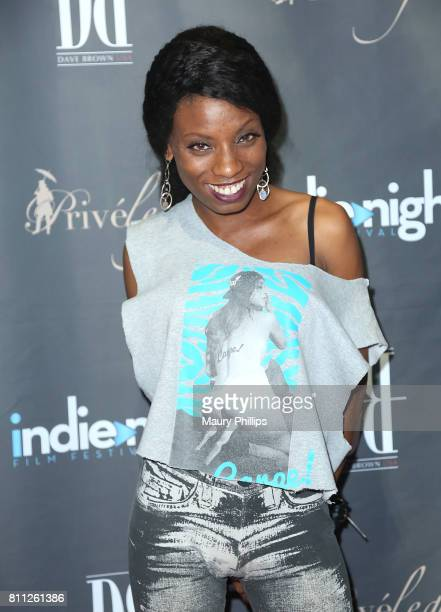 Actress Angelique Bates attends a VIP Screening of Exclusive Series 'Raydemption hosted by Lookhu at 'TCL Chinese 6 Theatre in Hollywood on July 8...