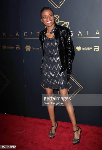 Actress Angelique Bates attends City Gala 2018 at Universal Studios Hollywood on March 4 2018 in Universal City California