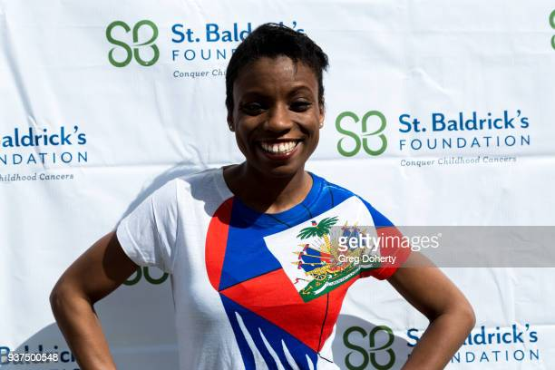 Actress Angelique Bates attends the St Baldrick's Foundation Celebrity Event on March 24 2018 in North Hollywood California