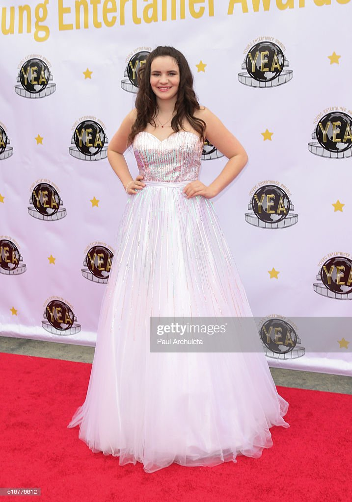 Actress Angelique Berry attends the 1st annual Young Entertainer Awards at The Globe Theatre at Universal Studios on March 20, 2016 in Universal City, California.