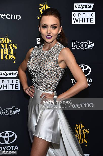 """Actress Angelique Boyer attends People En Espanol's """"50 Most Beautiful"""" on May 17, 2016 in New York City."""