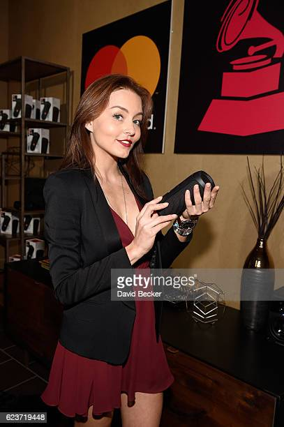 Actress Angelique Boyer attends the gift lounge during the 17th annual Latin Grammy Awards at TMobile Arena on November 16 2016 in Las Vegas Nevada