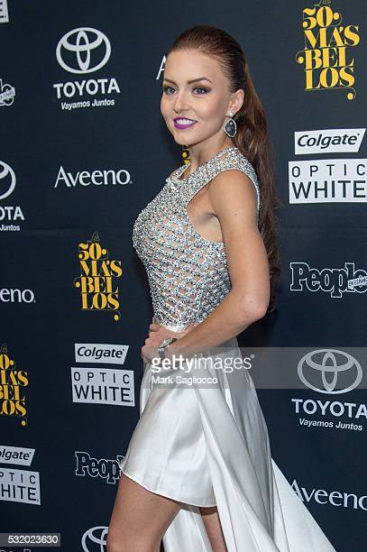Actress Angelique Boyer attends the People En Espanol 50 Most Beautiful at Espace on May 17 2016 in New York City