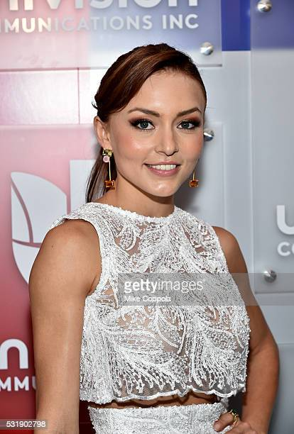 Actress Angelique Boyer attends Univision's 2016 Upfront Red Carpet at Gotham Hall on May 17 2016 in New York City
