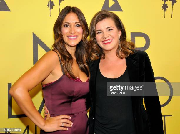 Actress Angelique Cabral and Screenwriter/ Director Eva Vives attends the 2018 Latino Media Fest Awards at AMC Century City 15 Theater on October 4...