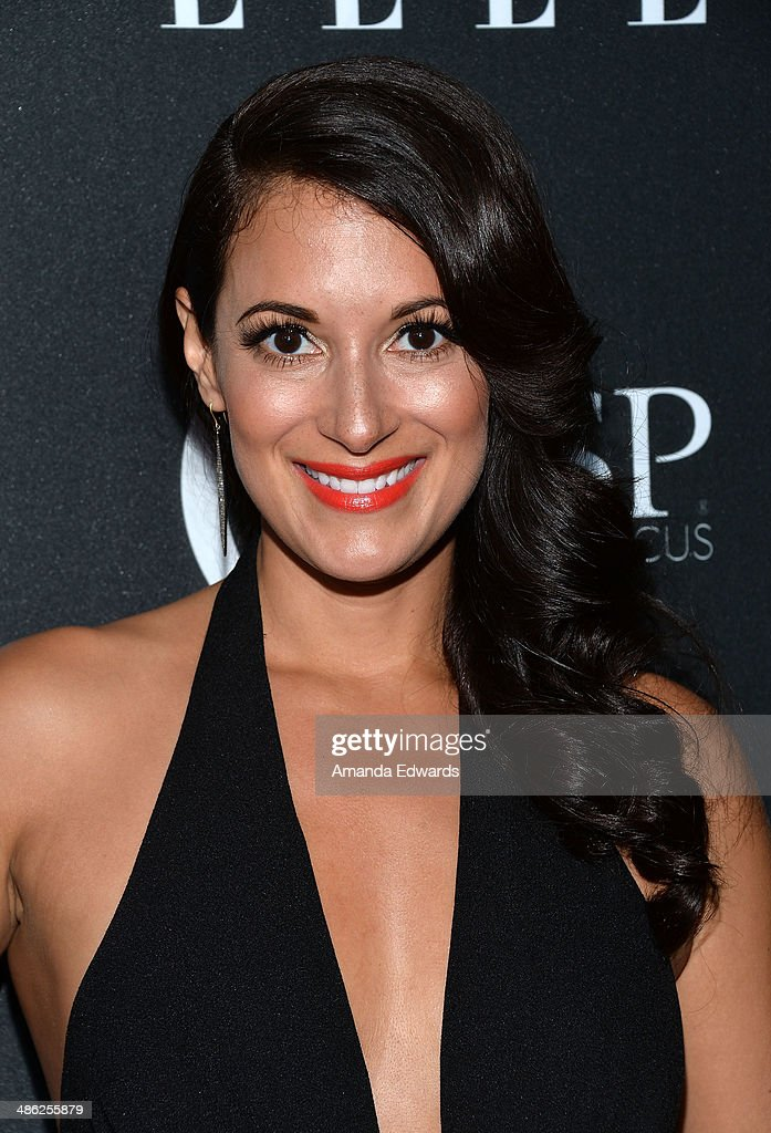 Actress Angelique Cabral arrives at ELLE's 5th Annual Women In Music concert celebration presented by CUSP By Neiman Marcus at Avalon on April 22, 2014 in Hollywood, California.