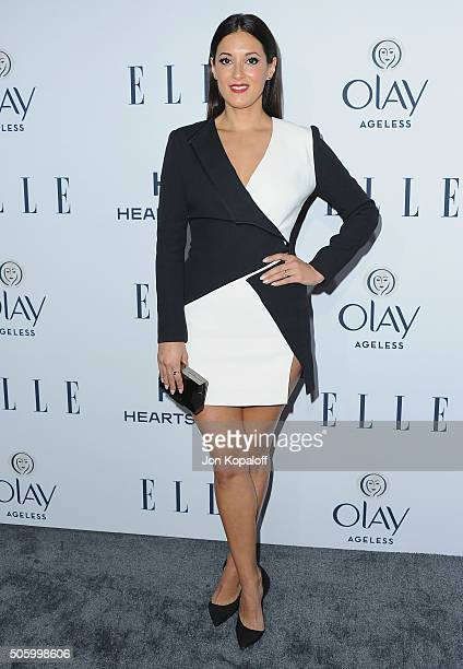 Actress Angelique Cabral arrives at ELLE's 6th Annual Women In Television Dinner at Sunset Tower Hotel on January 20 2016 in West Hollywood California