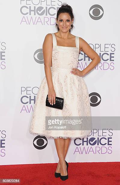 Actress Angelique Cabral arrives at People's Choice Awards 2016 at Microsoft Theater on January 6 2016 in Los Angeles California