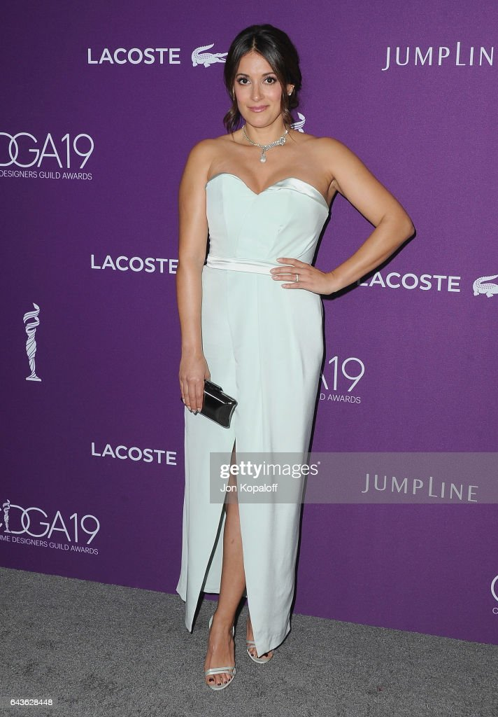 Actress Angelique Cabral arrives at the 19th CDGA (Costume Designers Guild Awards) at The Beverly Hilton Hotel on February 21, 2017 in Beverly Hills, California.