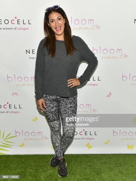 Actress Angelique Cabral arrives at the Inaugural Celebrity Bloom Summit at The Beverly Hilton Hotel on June 2 2018 in Beverly Hills California