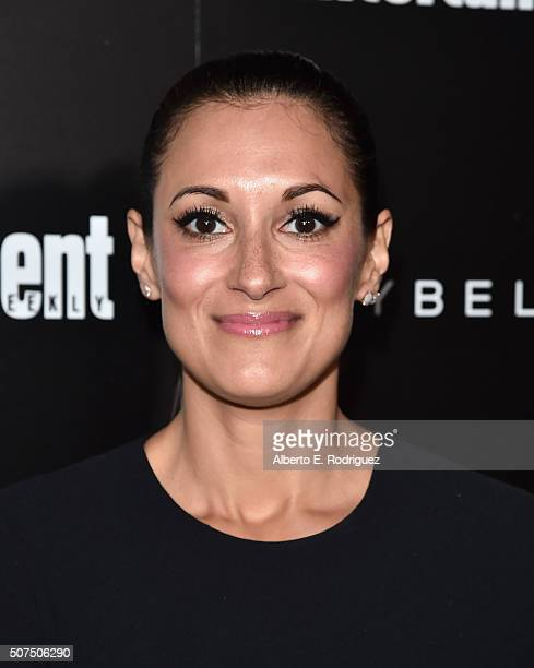 Actress Angelique Cabral attends Entertainment Weekly's celebration honoring THe Screen Actors Guild presented by Maybeline at Chateau Marmont on...