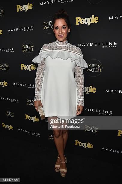 Actress Angelique Cabral attends People's Ones to Watch event presented by Maybelline New York at EP LP on October 13 2016 in Hollywood California
