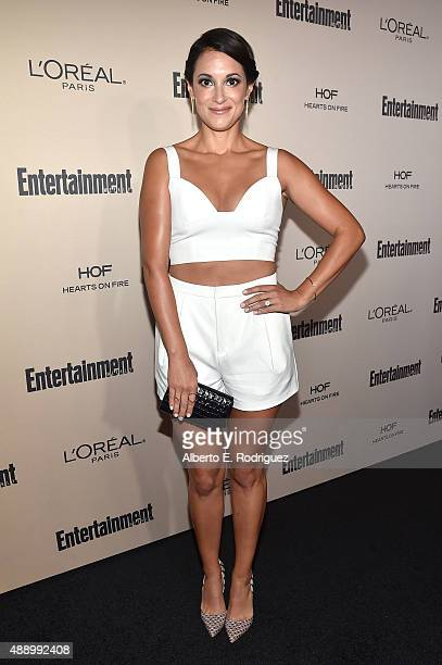 Actress Angelique Cabral attends the 2015 Entertainment Weekly PreEmmy Party at Fig Olive Melrose Place on September 18 2015 in West Hollywood...