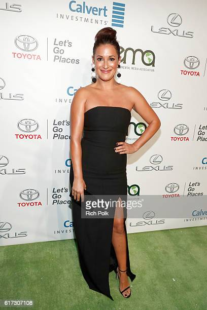 Actress Angelique Cabral attends the Environmental Media Association 26th Annual EMA Awards Presented By Toyota Lexus And Calvert at Warner Bros...