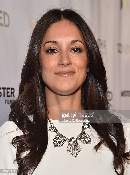 Actress Angelique Cabral attends the Los Angeles premiere of Mister Lister Films' Consumed at Laemmle Music Hall on November 11 2015 in Beverly Hills...
