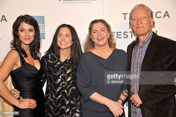 Actress Angelique Cabral director Anne Renton and actors Kathleen Turner and Richard Chamberlain attend the premiere of 'The Perfect Family' during...