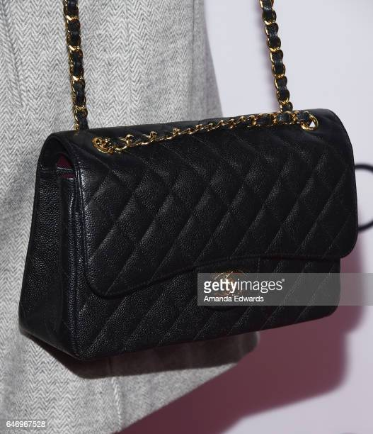 Actress Angelique Cabral handbag detail arrives at the premiere of Bleecker Street Media's The Last Word at ArcLight Hollywood on March 1 2017 in...